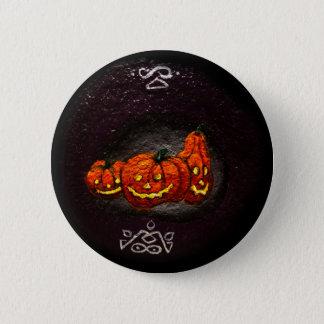 spooky halloween pumpkins button