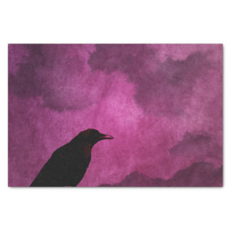 Spooky Halloween Raven Prints Tissue Paper
