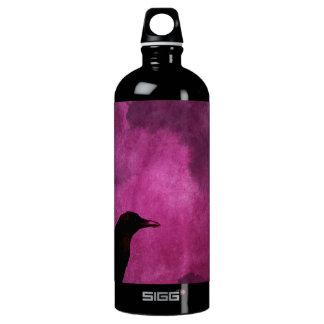 Spooky Halloween Raven Prints Water Bottle