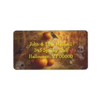 Spooky Halloween Return Address Address Label