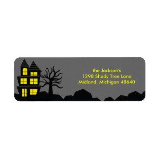 Spooky Halloween Return Address Labels