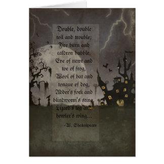 Spooky Halloween Scene Card