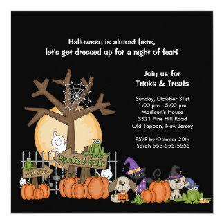 SPOOKY Halloween Scene Halloween Party Invitation