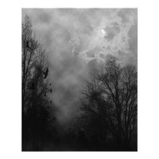 Spooky Halloween Sky with Ravens Flyer