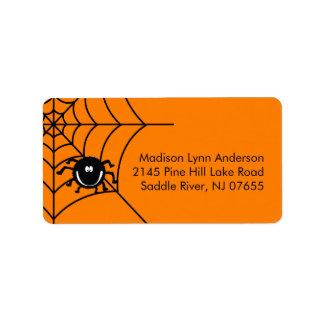 Spooky Halloween Spider  Return Address Labels. Label