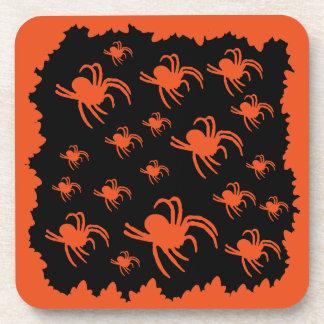 Spooky Halloween spiders Coaster