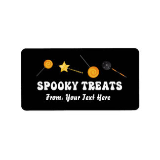 Spooky Halloween Trick or Treat Labels