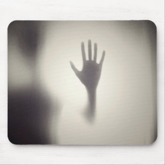 Spooky Hand on the Glass Panel Halloween Mousepad