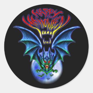 Spooky Happy Halloween Bat Sticker
