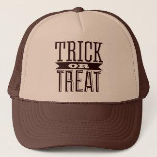 Spooky Happy Halloween Party Trick or Treat Text Trucker Hat