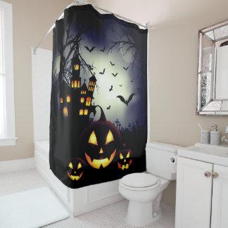 Spooky Haunted Halloween Night Shower Curtain