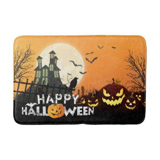 Spooky Haunted House Costume Night Sky Halloween Bath Mat