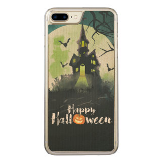 Spooky Haunted House Costume Night Sky Halloween Carved iPhone 7 Plus Case