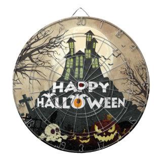 Spooky Haunted House Costume Night Sky Halloween Dartboard