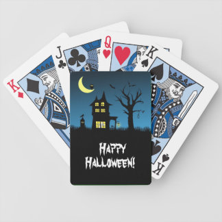 Spooky Haunted House Halloween Deck Of Cards