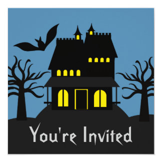 Spooky Haunted House Halloween Invite