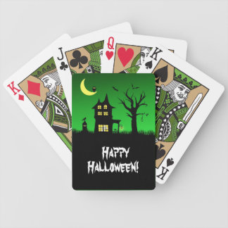 Spooky Haunted House Halloween Playing Cards