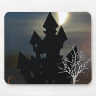 Spooky Haunted House Mouse Pad