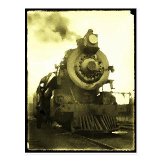 Spooky: Haunted Locomotive Postcard