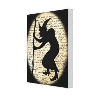 Spooky Hunched Witch Canvas Canvas Print