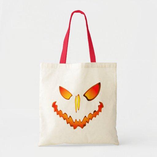 Spooky Jack O Lantern Face Tote Bag