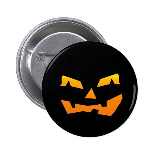 Spooky Jack O Lantern Halloween Pumpkin Face Buttons