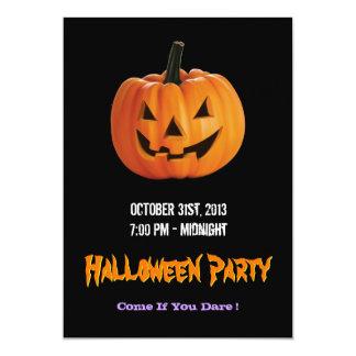 Spooky Jack O Lantern Pumpkin - Happy Halloween 13 Cm X 18 Cm Invitation Card