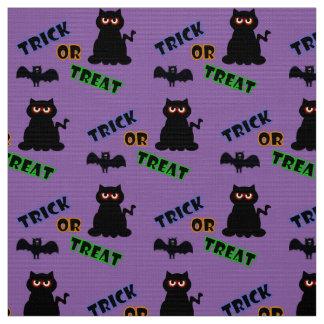 Spooky Kitty Trick Or Treat Halloween Fabric 2