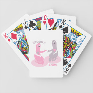 Spooky love, ghost feet bicycle playing cards
