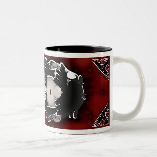 Spooky Lucy Mug. Two-Tone Coffee Mug