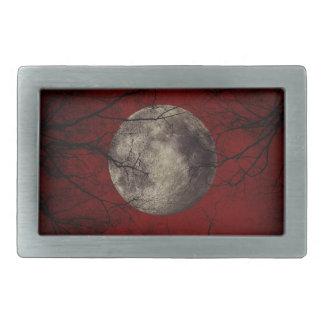Spooky Moon Halloween Prints Belt Buckles