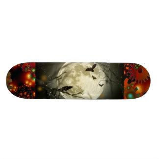 Spooky Moon Night Bird Gear Grunge Rust Destiny Skateboard Decks