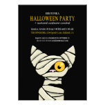 Spooky Mummy Cat Halloween Party Invitations