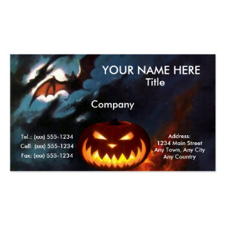 SPOOKY NIGHT Halloween design ~ Pack Of Standard Business Cards