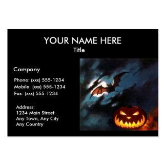 SPOOKY NIGHT Halloween pumpkin design ~ Business Card Template