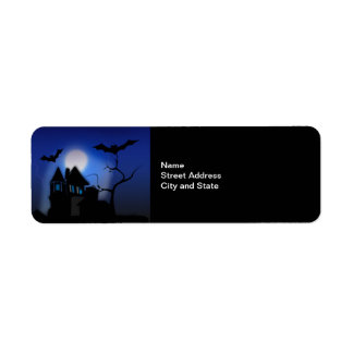 Spooky Night...Halloween Return Address Label
