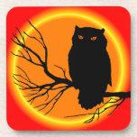 Spooky Owl Drink Coaster