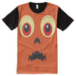 Spooky Owl Face Halloween Costume All-Over Print T-Shirt