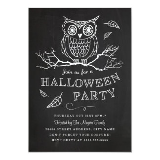 Spooky Owl Halloween Party Invitation