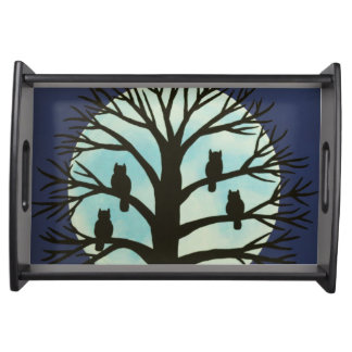 Spooky Owl Serving Tray