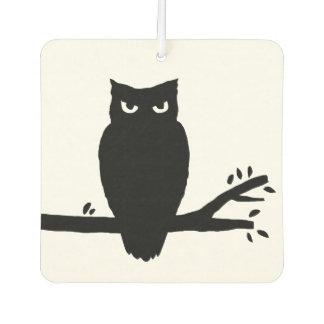Spooky Owl Silhouette Car Air Freshener