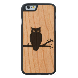 Spooky Owl Silhouette Carved Cherry iPhone 6 Case