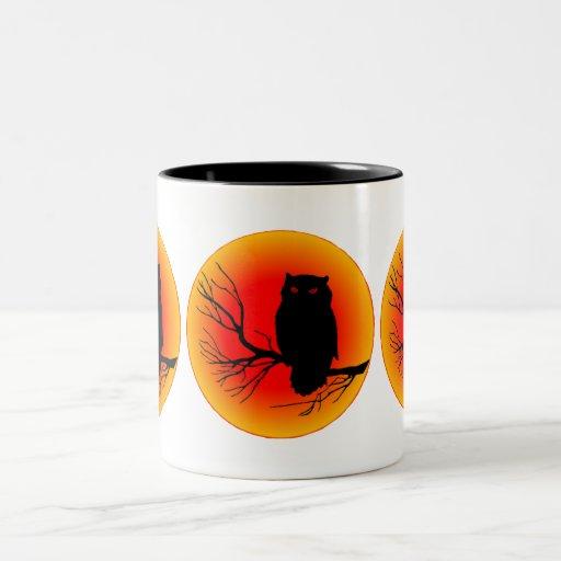 Spooky Owl Two-Tone Mug