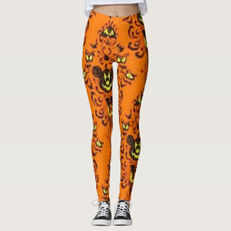 Spooky Pumpkin Mouse Leggings
