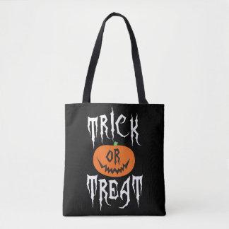 Spooky Pumpkin Trick or Treat Halloween Bag