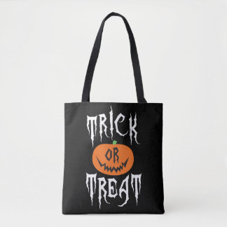 Spooky Pumpkin Trick or Treat Halloween Bag Tote Bag