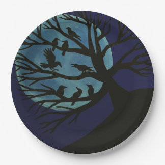 Spooky Raven Paper Plates