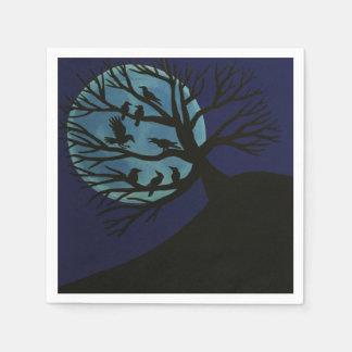 Spooky Raven Tree Napkins Disposable Napkins