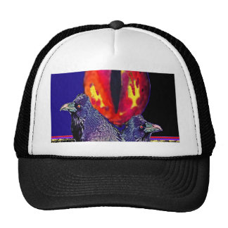 Spooky Ravens Vampire Eye By Sharles Mesh Hat