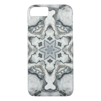 Spooky Santa Clauses around a snowflake iPhone 8/7 Case